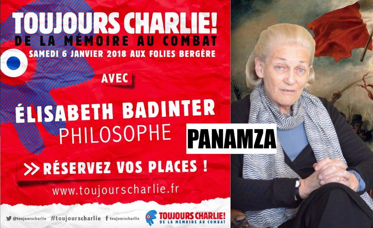 Les Charlie ont trouvé leur grande prêtresse : ce sera l'islamophobe Elisabeth Badinter