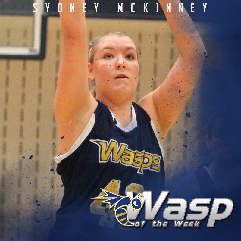 Sydney McKinney of @EHCWBB is this week's #WaspoftheWeek! #StingersUp