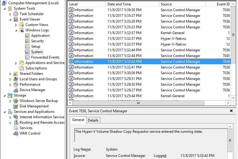 Hyper-v server 2016 install