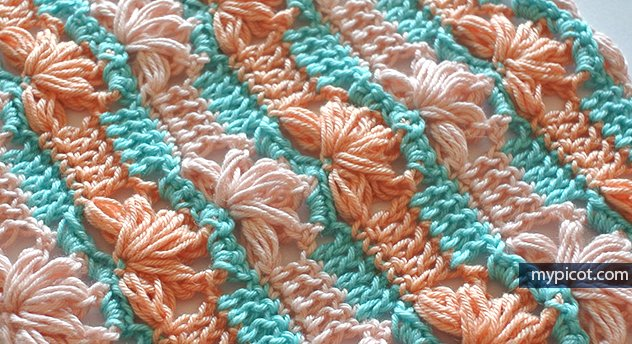 Mypicot On Twitter New Crochet Flower Puff Stitch Pattern