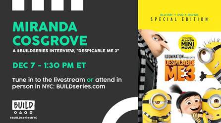 Can't wait to see you guys! @BuildseriesNYC