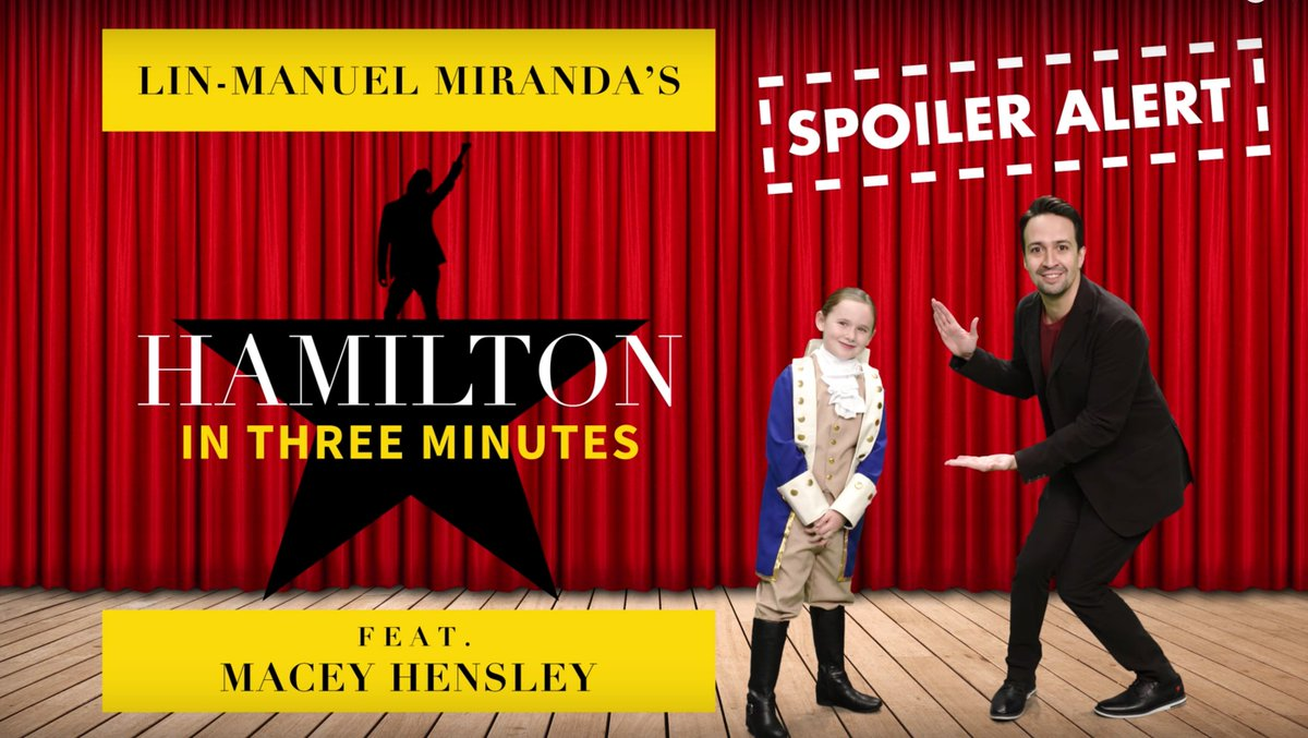 .@Lin_Manuel performed #Hamilton in 3 minutes with my young friend Macey. #EllenShowMeMore https://t.co/nSfTl1H840
