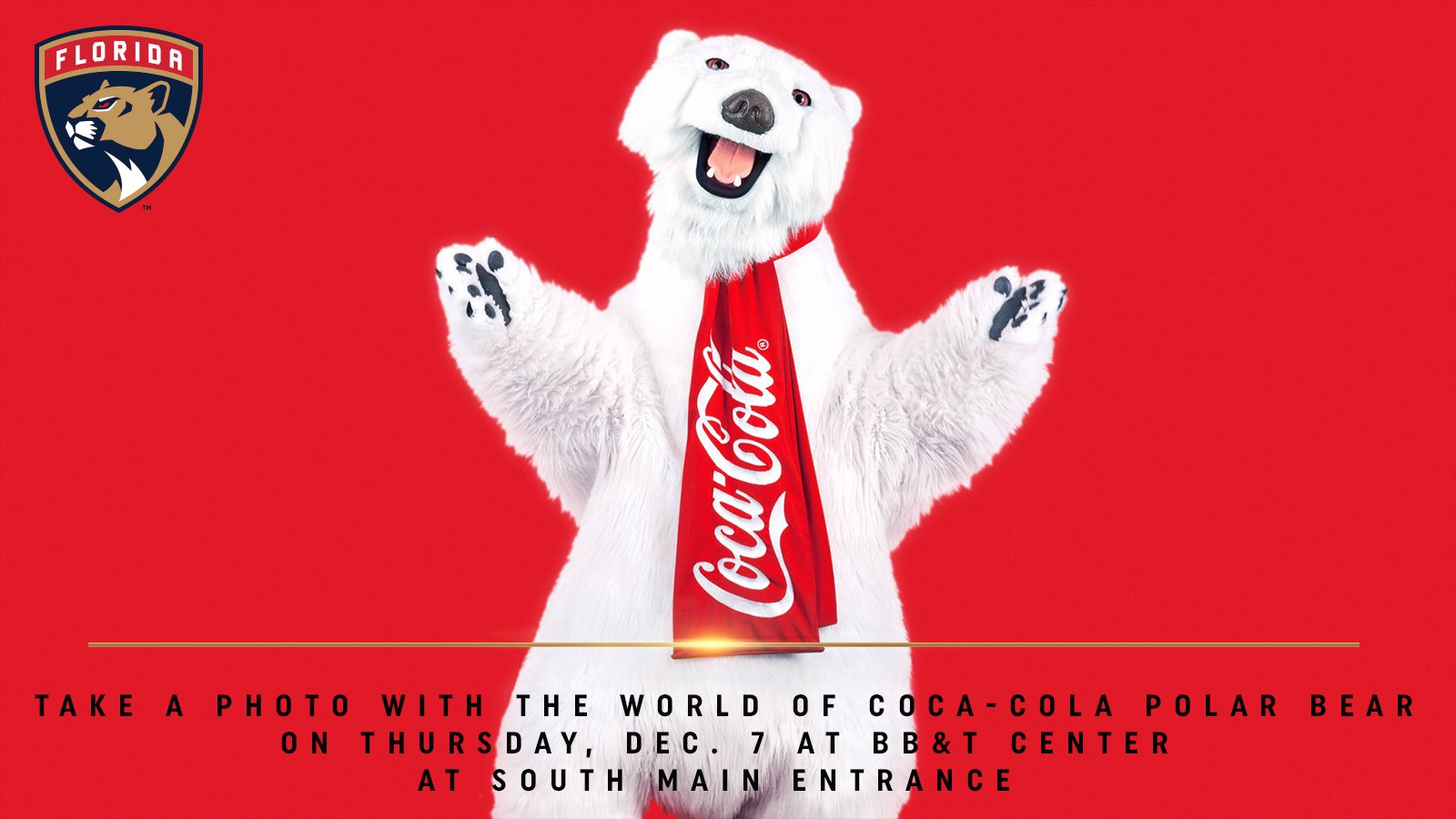 Florida Panthers On Twitter The World Of Coca Cola Polar Bear