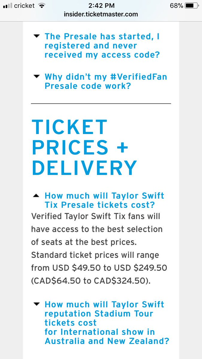 Ticketmaster on twitter taylorswifttix purchase tip don 3 replies 3 retweets 7 likes kristyandbryce Images