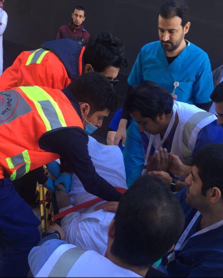 مشارك في فعاليات #تطوعي_صحة بالرياض ينقذ...