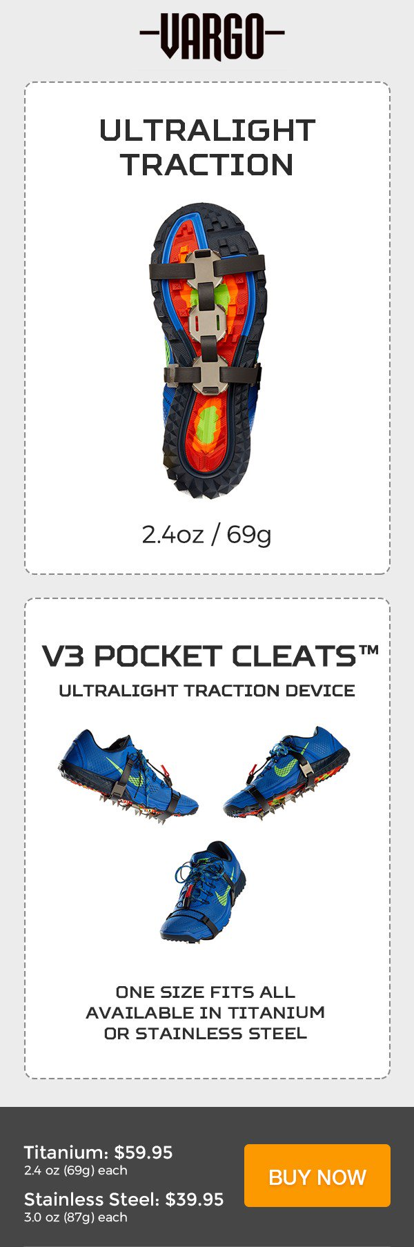 e338ace96a2 V3 Pocket Cleats™ available now in titanium or stainless steel. Trail  traction has never been so effectively lightweight!…  https   t.co cufl8zruYg