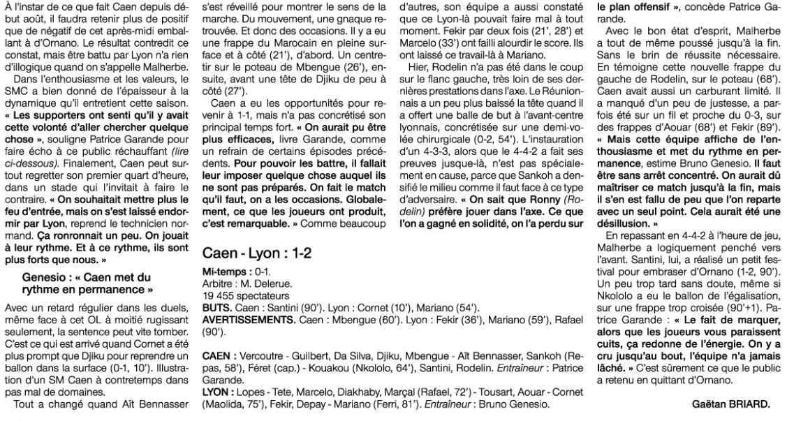 [16e journée de L1] SM Caen 1-2 O Lyon DQTCfdrXUAAAcE9