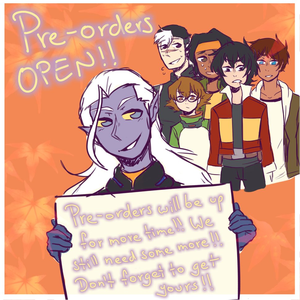 [RTs=] Pre-orders will still be up for a couple more of days!! We still need more orders, please help us share!! You can get the zine here  http:// fallonearthvldzine.bigcartel.com / &nbsp;   #voltron #voltronlegendarydefender #vld #shiro #keith #lance #pidge #hunk #allura #coran #lotor #space #zine<br>http://pic.twitter.com/lr3ZTkwCuX