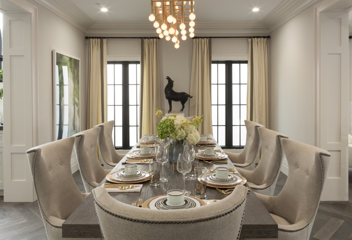 Kate Spade china and Jonathan Adler chandelier. Shop Drew's Honeymoon House! {Dining Room: Resource Guide & Sources}