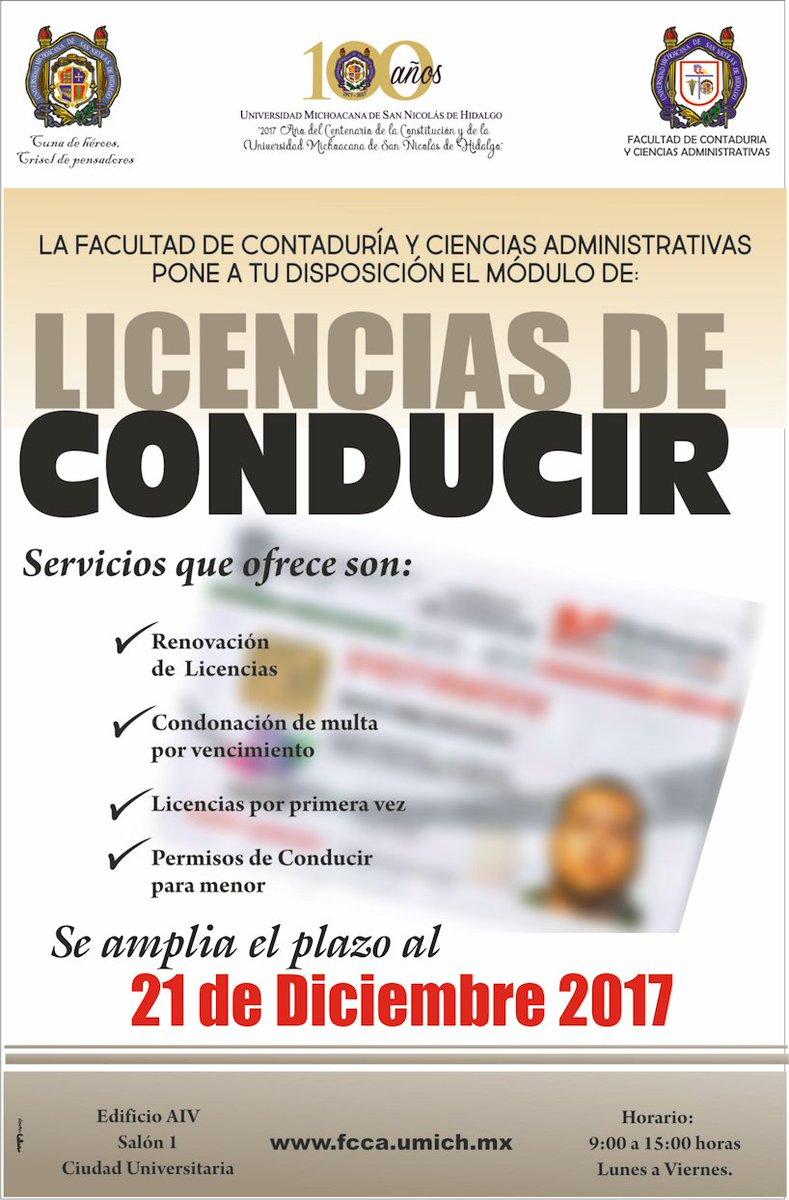 Fcca Umsnh On Twitter Módulo De Licencias De Conducir En