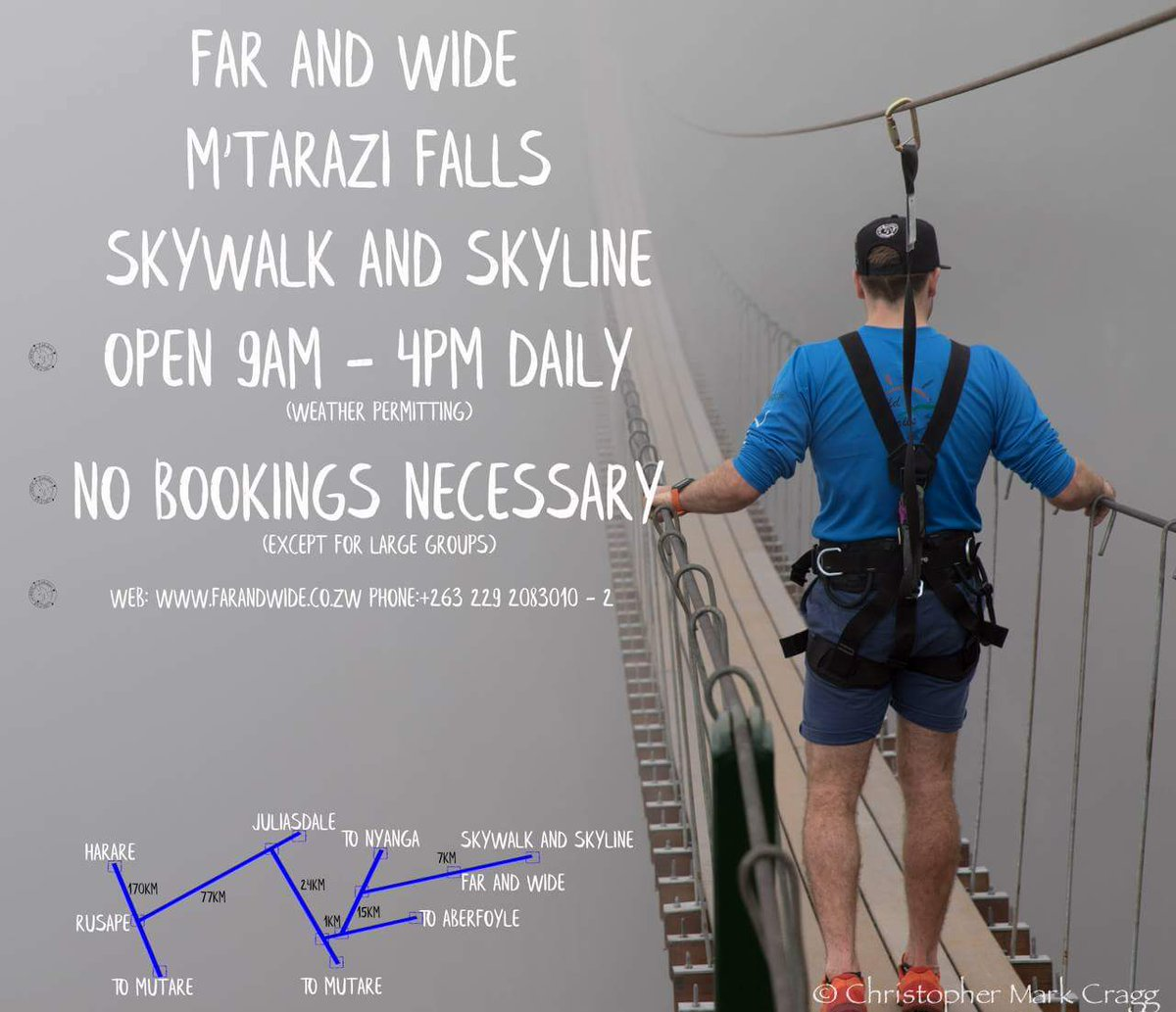 Far and wide Mutarazi Falls  skywalk skyline #MutaraziAdventures