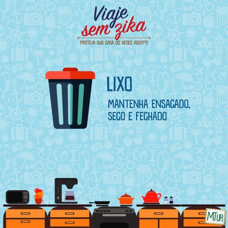 Manter o lixo em boas condições faz parte do combate do mosquito Aedes Aegypti! 🚮   #MosquitoNão