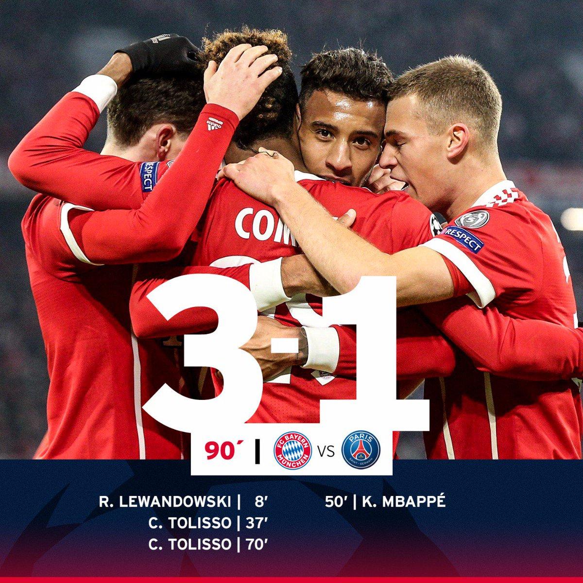 Chấm điểm trận Bayern Munchen 3-1 Paris Saint Germain