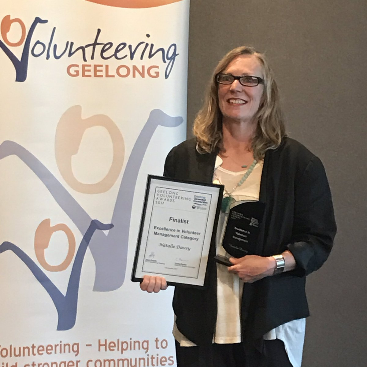 Congrats to our Natalie winner @VolGeelong Exc in Volunteer Management Award! #socent #proud #awards #recognition #community<br>http://pic.twitter.com/bMhSEJHayv