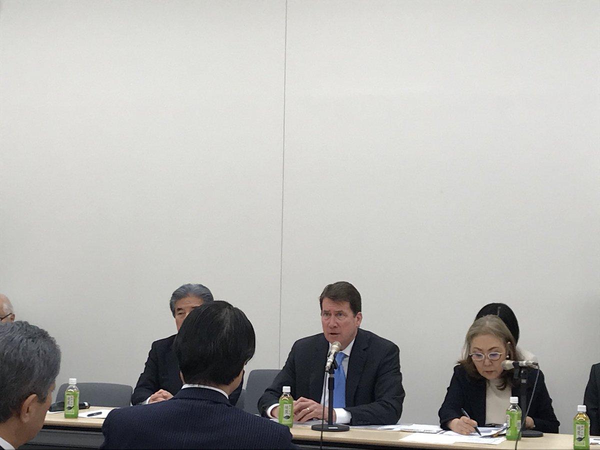 昨日の日米議員連盟。ウィリアムFハガティ駐日米国大使を迎えて「今後の日米関係」についての意見交換でし…