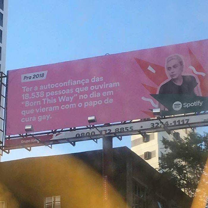 Publicidade do Spotify com Lady Gaga que...