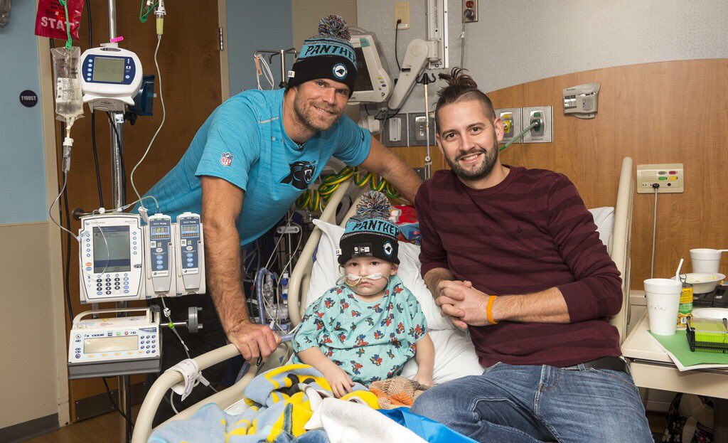 Greg Olsen and his family delivered new beanies to  LevineChildrens patients   KeepPoundingpic.twitter.com uqARh2ExIv 696b79ada