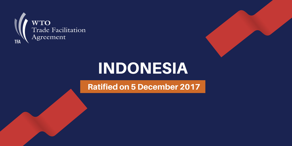 Wto On Twitter Just In Indonesia Has Ratified The