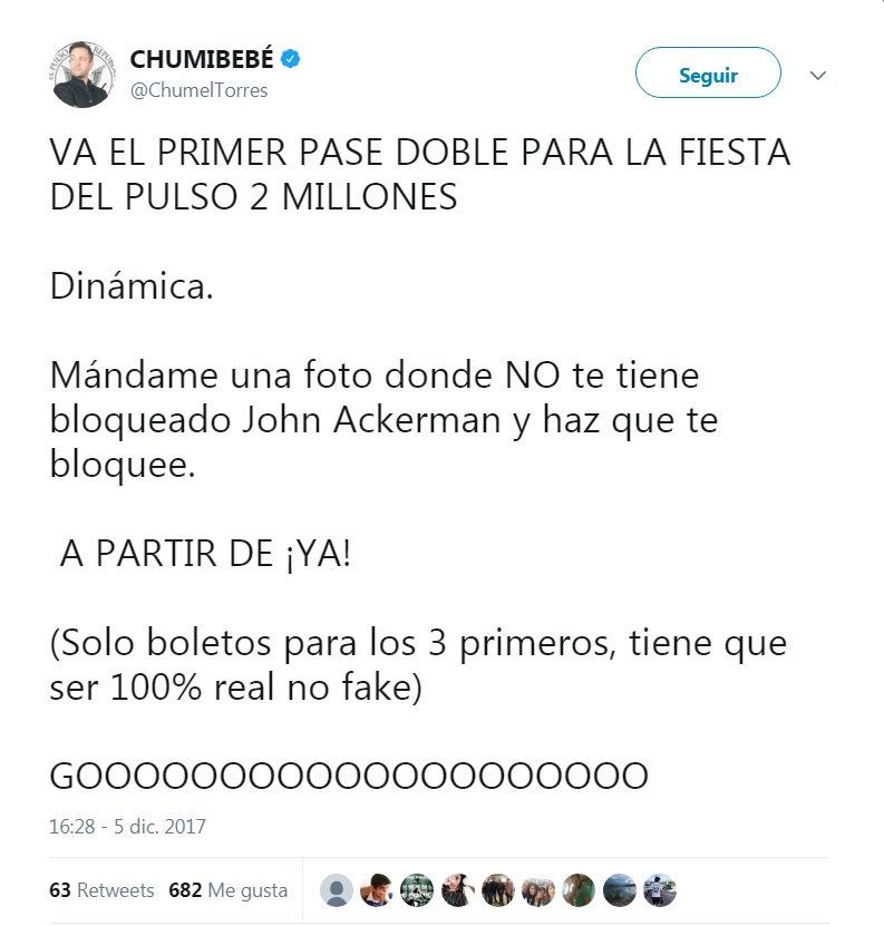 .@ChumelTorres no es sólo un mal comediante, sino también un sicario digital a sueldo del régimen. El muy 'valiente' ya borró su tweet, pero aquí la evidencia de su activa promoción de odio y violencia en redes. #ApagaTelevisa y #UnfollowChumel por el bien de todos, por favor.