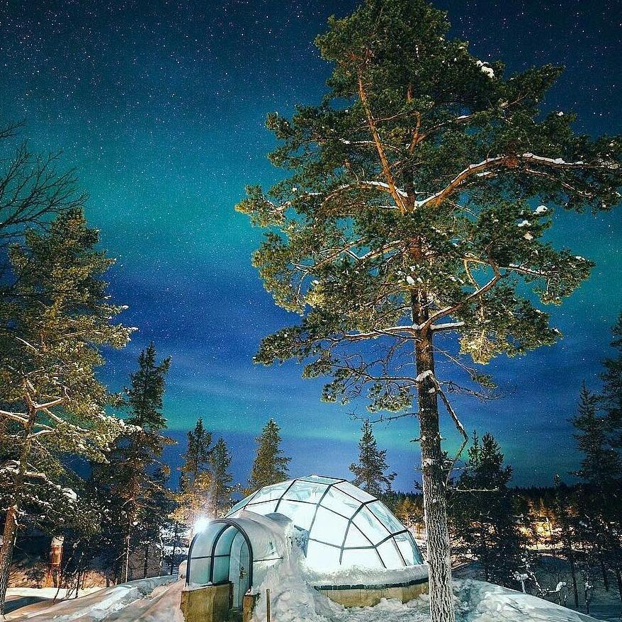 The Kakslauttanen Arctic Resort In Lapland, #Finland. With Its Glass Igloos,  Luxurious Log Cabins, Northern Lights, Midnight Sun U0026 Reindeer Safaris Itu0027s  A ...
