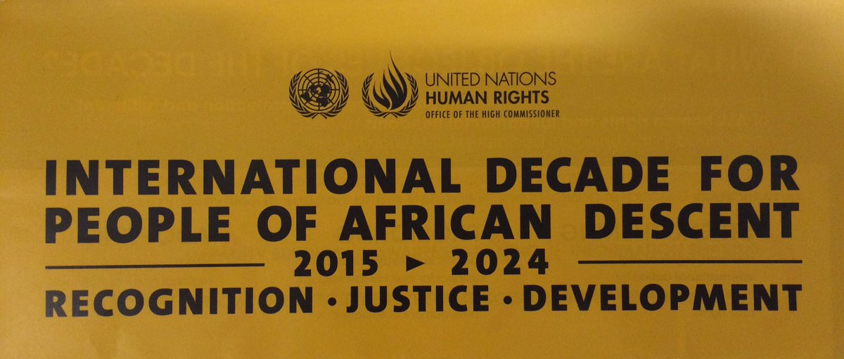 Did you know the United Nations' General Assembly proclaimed 2015-2024 the Int'l Decade for People of African Descent?