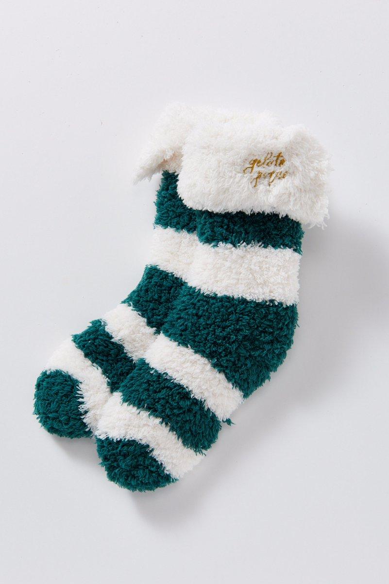 """ジェラート ピケのクリスマス - """"もこもこ""""ルームウェアをレッドやグリーンの特別カラーで fash…"""