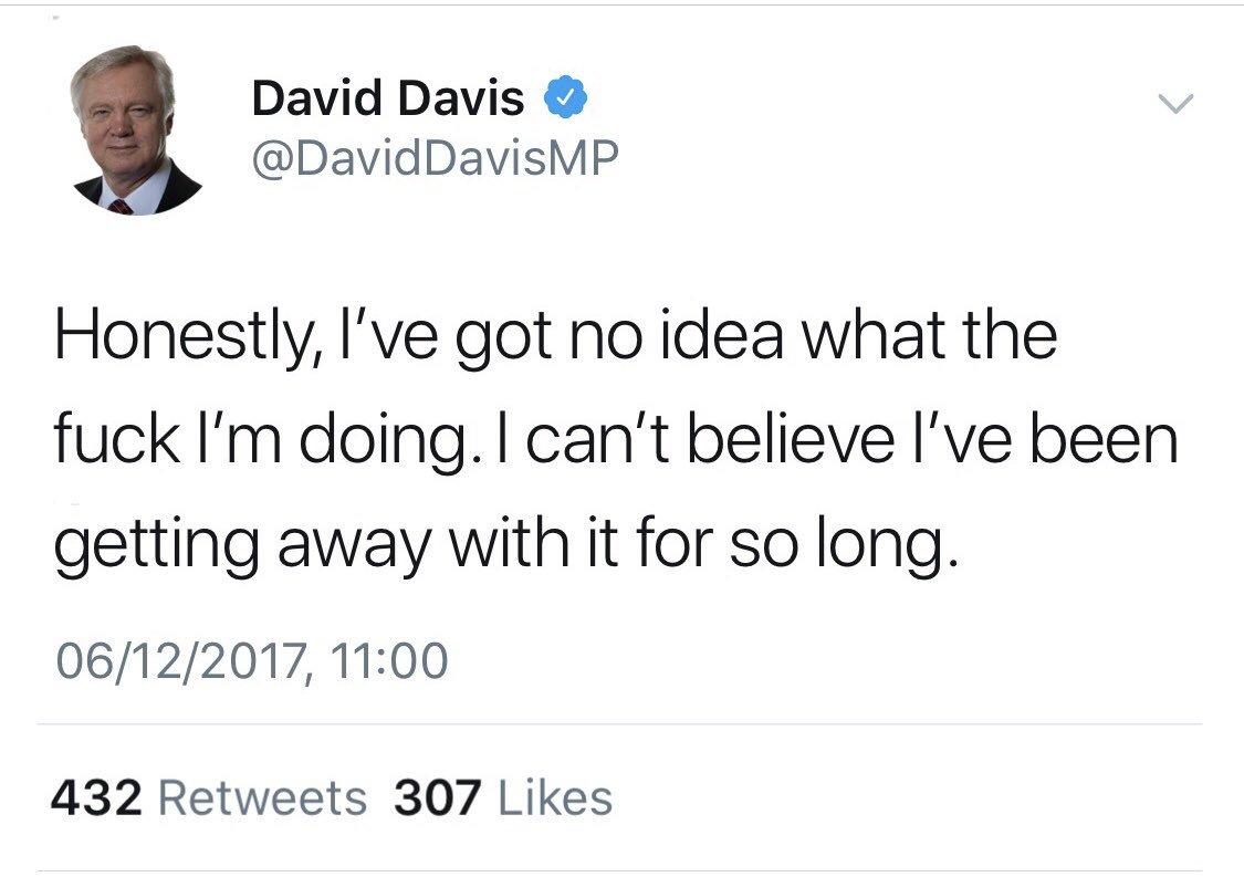 David Davis finally comes clean