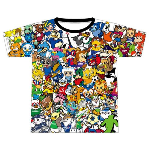 Jリーグオンラインストアにて限定発売中のマスコット集合Tシャツ(2017)....... ものすごく…