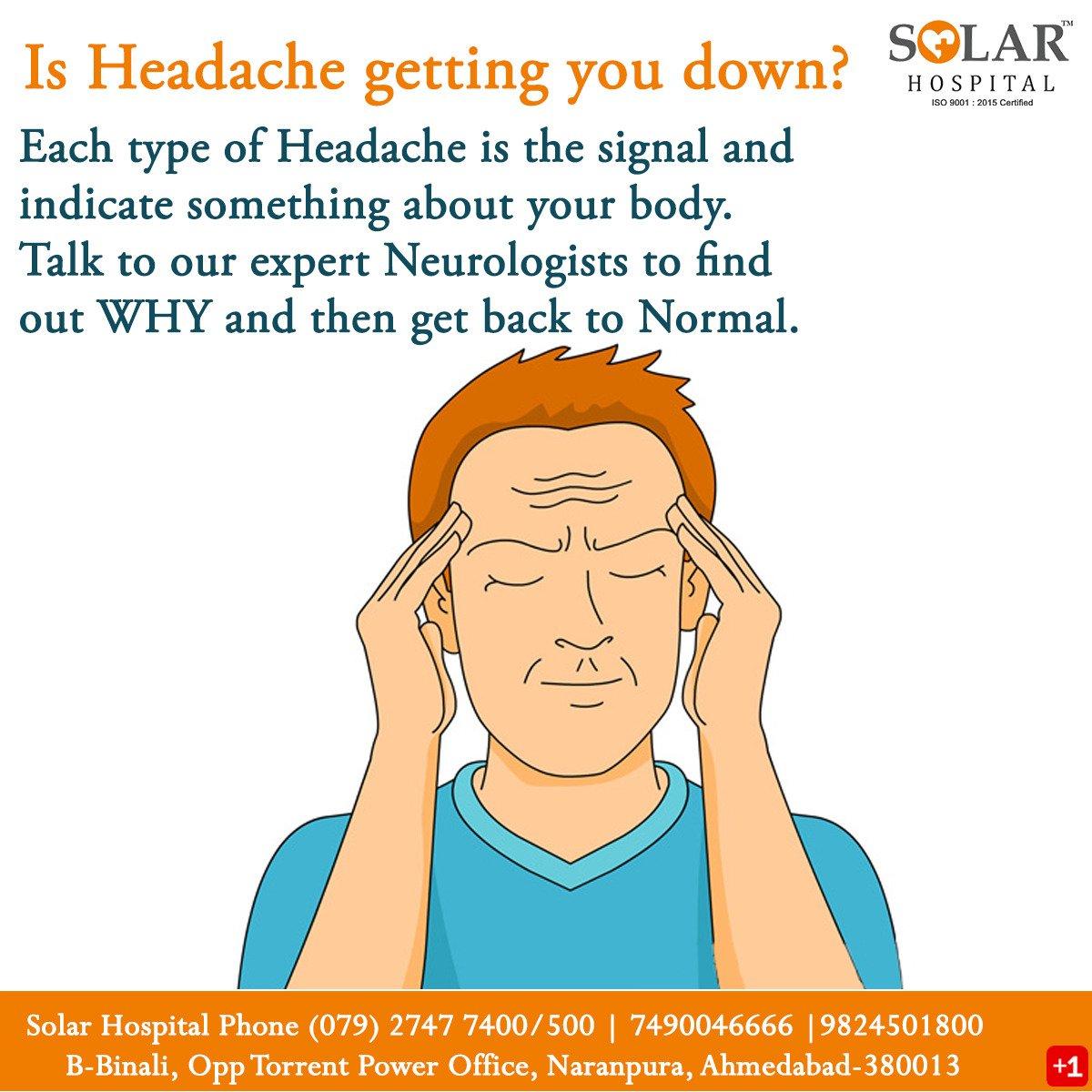 Headache - a signal to help the body