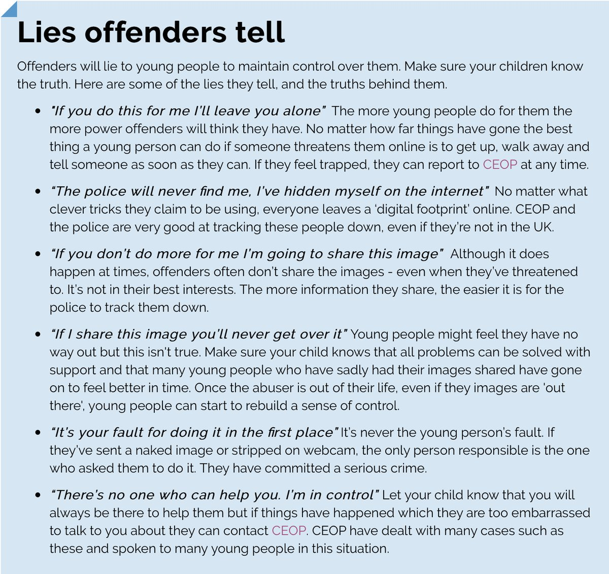 Ceop on twitter offenders like sam lie to children online help ceop on twitter offenders like sam lie to children online help your children recognise manipulative behaviour and give them the confidence to speak out solutioingenieria Image collections
