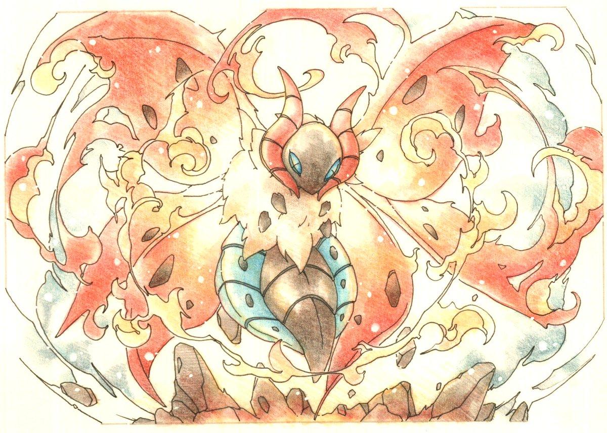 #今日のポケモン図鑑 No.609  :ウルガモスの ほのおのまい!!▼