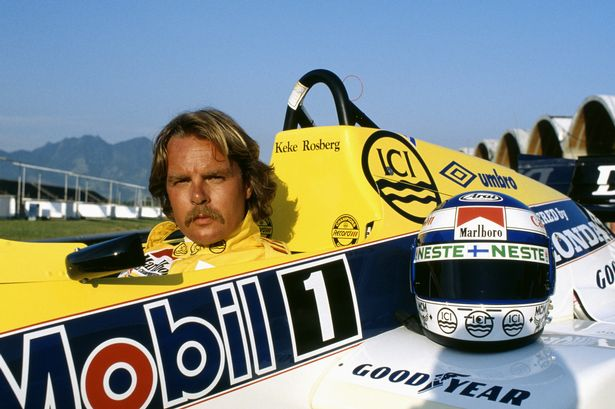 Happy to legend Keke Rosberg, first champion from Finland