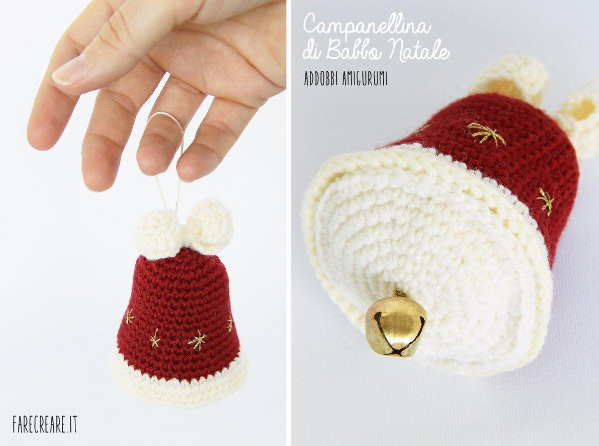 Babbo Natale Uncinetto amigurumi schema italiano - manifantasia | 895x1200