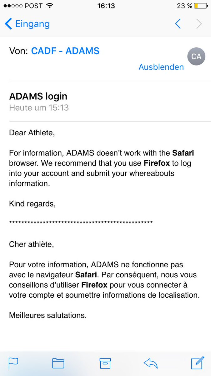 Dear Adams, Im sad to hear that you dont work with one of the most common internet browsers anymore.... #progression #fail