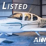 Just Listed! 2002 Cirrus SR20. 91 Hours SMOH, New MT Prop, Dual 430s, Avidyne EX5000 MFD. Full details here: https://t.co/P3i7ANd0dR