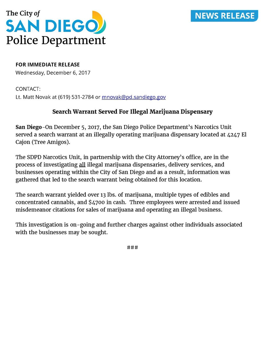 San Diego Police Department on Twitter: