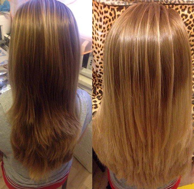 Балаяж на мелированные волосы