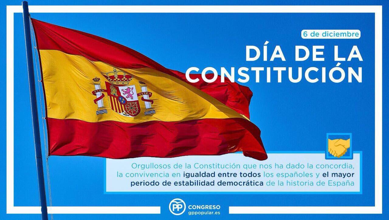 La Constitución es la mejor garantía de unidad, igualdad, convivencia y libertad!  Feliz #DíaDeLaConstitución ���� https://t.co/xapjpC2t72