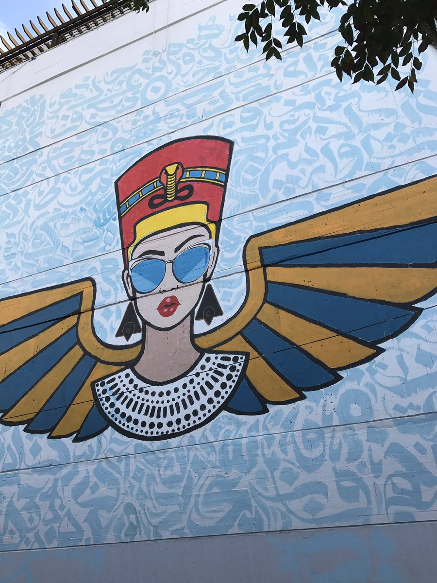 Amro Ali On Twitter The New Graffiti At Auc Has Transformed Nefertiti Into A Depoliticised Cleansed Individual And Emptied Of Any Meaningful