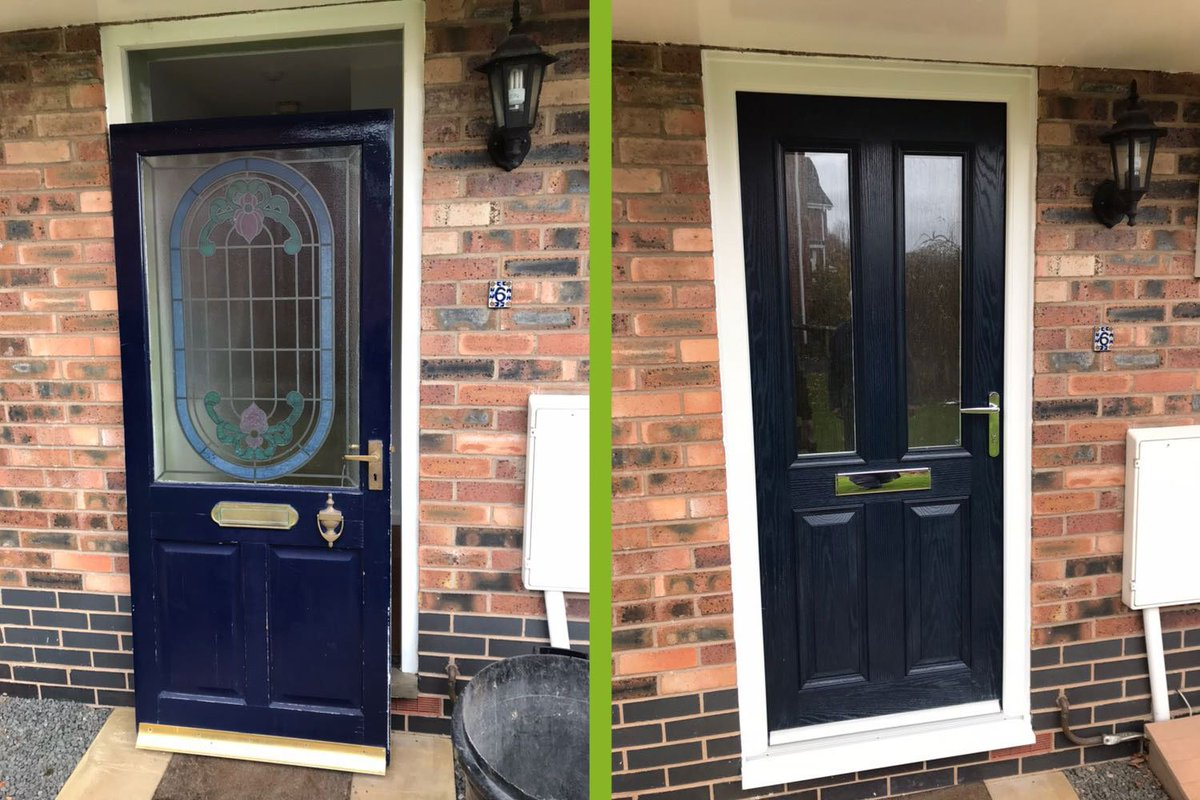 What A Difference New Door Can Make This Before And After Shot Sent In By Customer Shows The Upgrade To Beautiful Camden Blue York Style