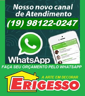 Agora você pode fazer o orçamento pelo WhatsApp ERIGESSO