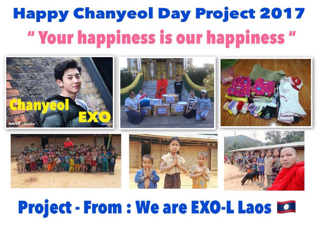 "RT ChanHomeTH: RT PARKHYUNSE94: Plss RT Happy birthday  Chanyeol  Project ""ພວກເຈົ້າອຸ່ນກາຍ ພວກເຮົາກໍ່ອີ່ມໃຈ""  by EXO-L Laos  19/11/17 Last month  #HappyChanyeolDay pic.twitter.com/BhWTv4ZPIO"