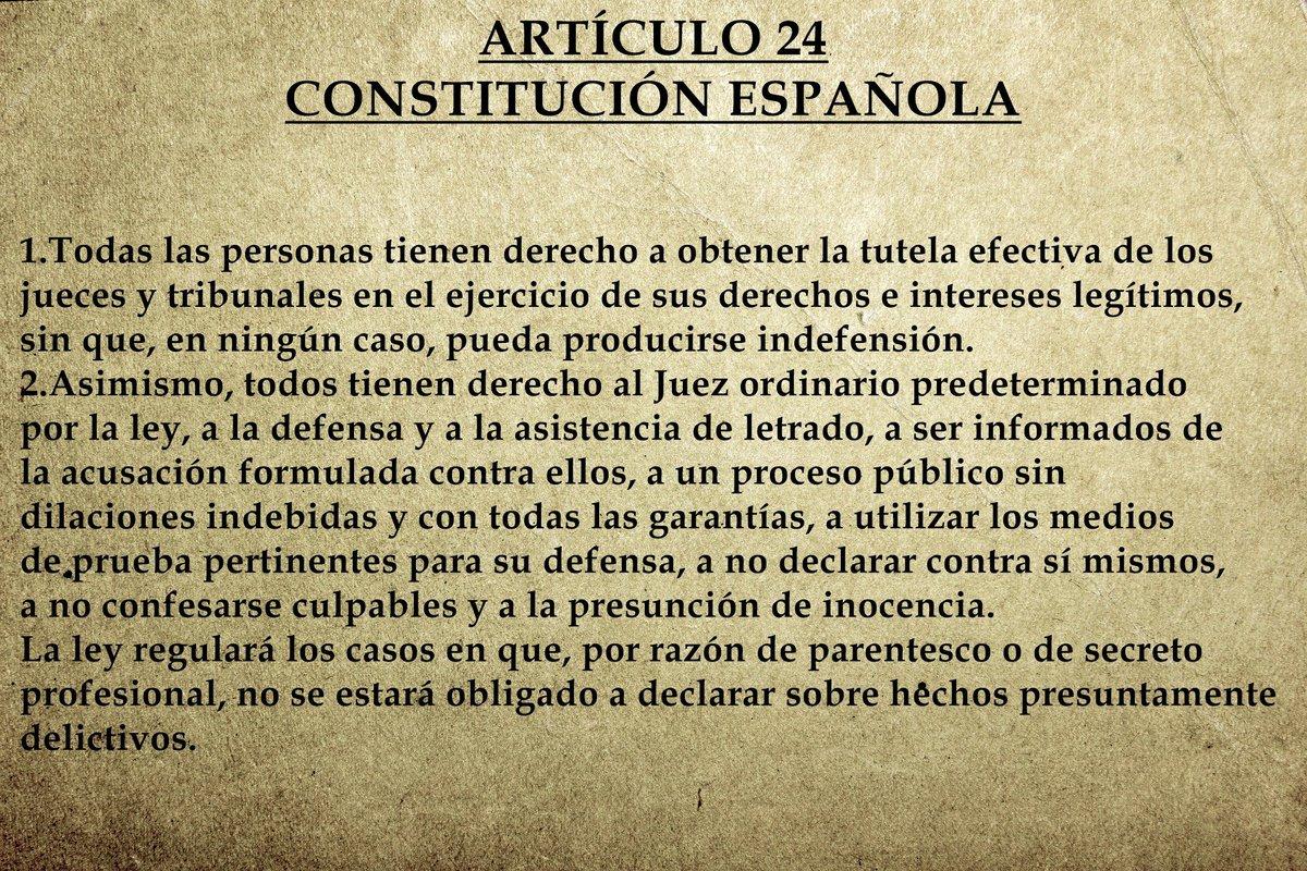 Resultado de imagen de art 24 constitucion