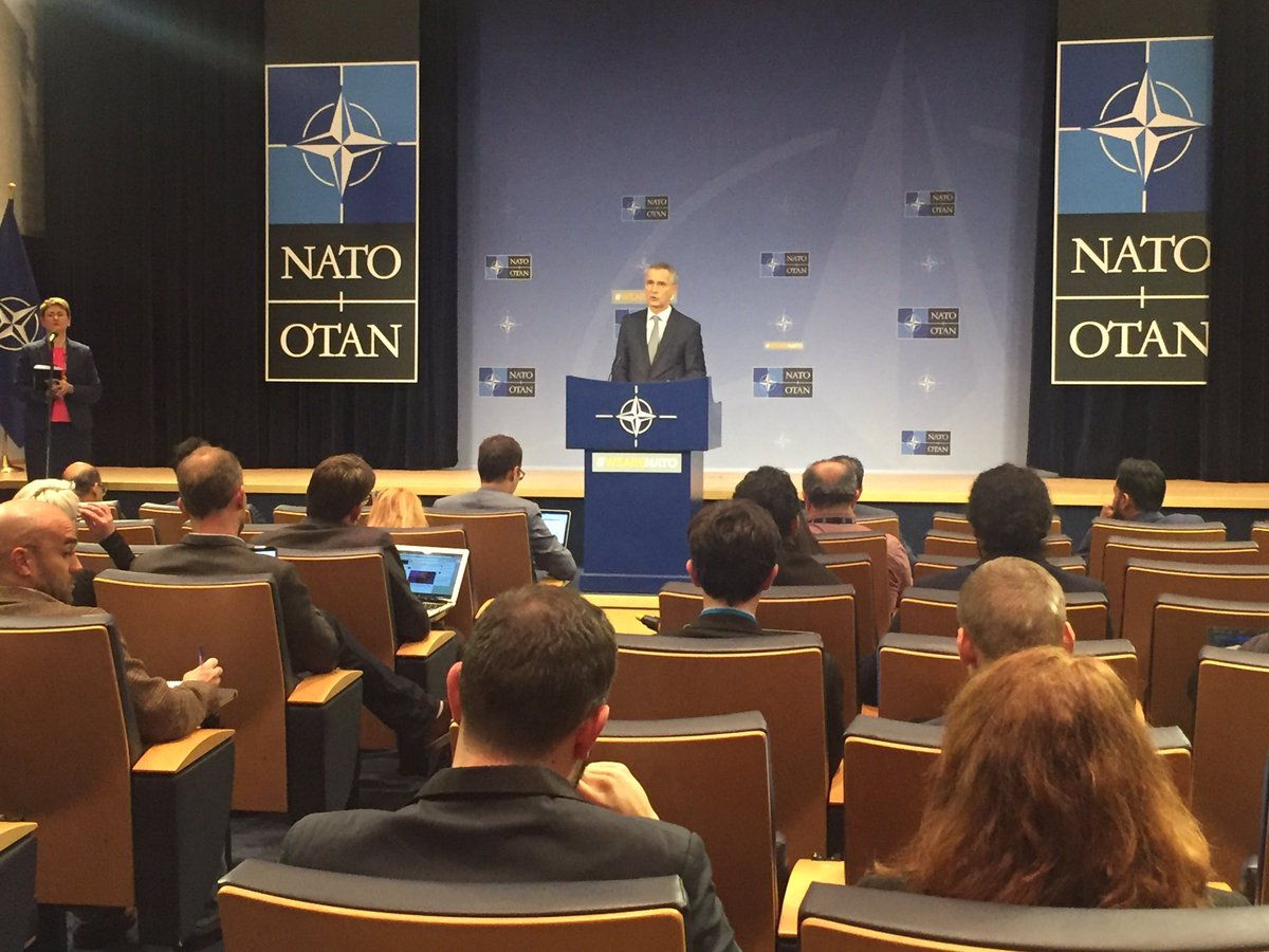.@Coalition has recovered over 95 % of the ISIS claimed territory &amp; liberated 7 million people. But together, we must consolidate those gains – #NATO SG @jensstoltenberg #ForMin<br>http://pic.twitter.com/kRIjNw74Ay