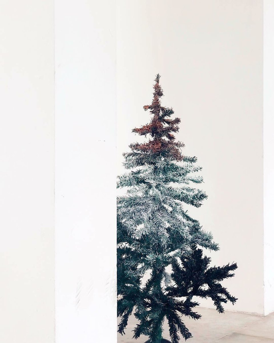 Artlay Studio On Twitter Ombre Xmas Tree Black Silver Rose