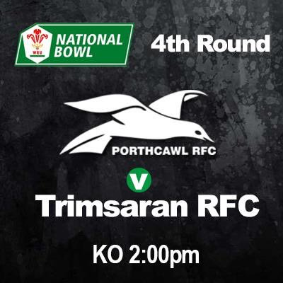 This Saturday we welcome @TrimsaranRugby to South Road in the 4th Round of the #WRU National Bowl @WRU_Community  @ospreys @JiffyRugby ko 2pm <br>http://pic.twitter.com/FXO6O9yykc