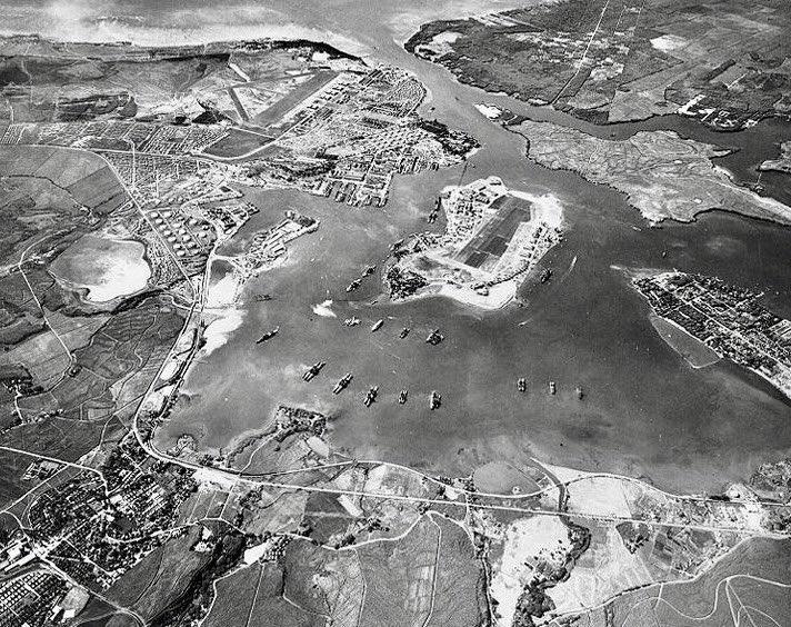 Pearl Harbor, Hawaii, 5 weeks before attack of tomorrow 1941:               #NARA