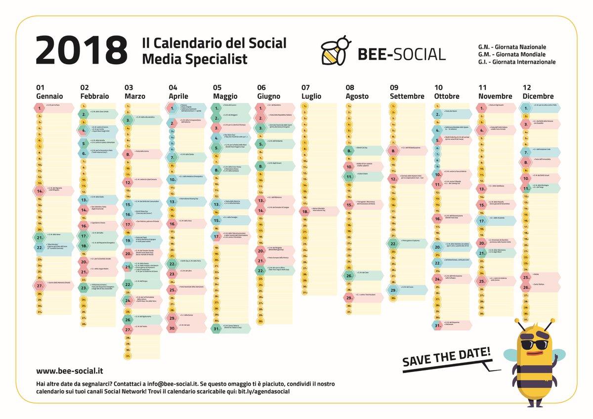 Calendario Social.Luca Rallo On Twitter Grazie A Bee Social Ecco L