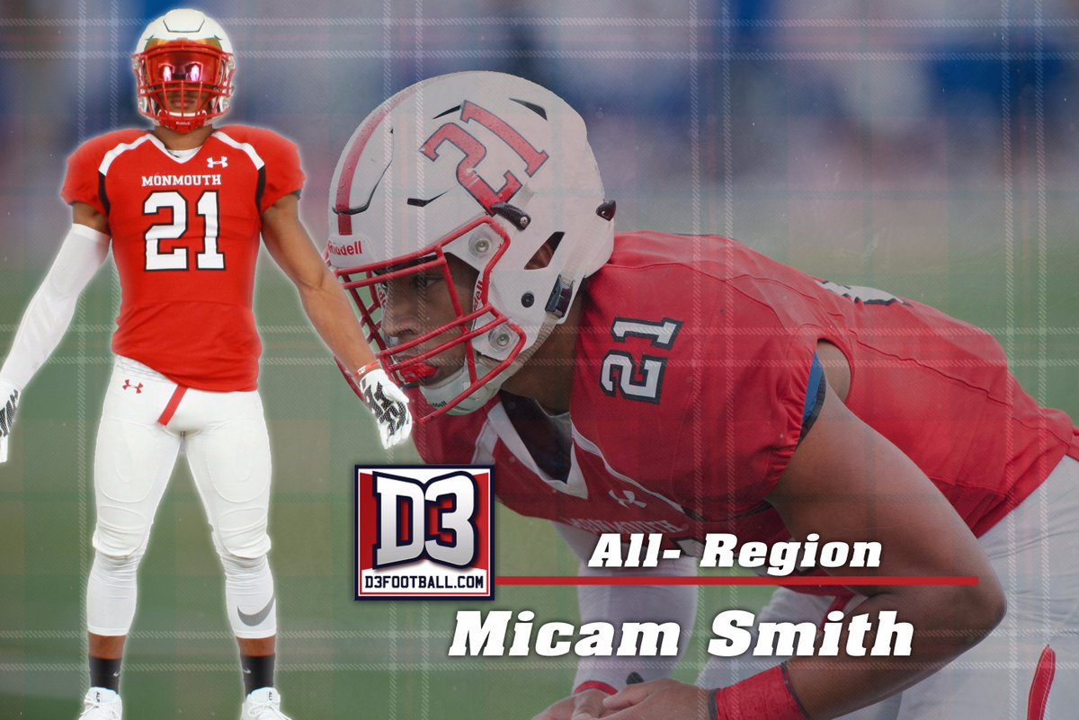 Congratulations to Micam Smith on being named the @d3football All-Region Team! Full story on  http:// monmouthscots.com  &nbsp;   #RollScots #Uncommon <br>http://pic.twitter.com/heFO8wiKHA