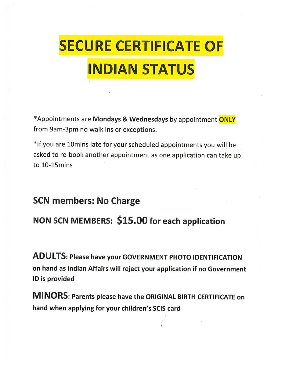 Samson cree nation on twitter status card information aiddatafo Gallery